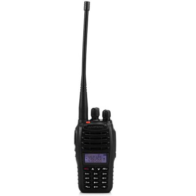 Baofeng B5 VHF / UHF Dual Band Programmable Walkie Talkie Two - way Radio FM Transceiver Handheld Interphone with FlashlightWalkie Talkies<br>Baofeng B5 VHF / UHF Dual Band Programmable Walkie Talkie Two - way Radio FM Transceiver Handheld Interphone with Flashlight<br><br>Brand: Baofeng<br>Model  : B5<br>Type : Two way radio<br>Main Functions : Time-Out Timer (TOT), VOX, PTT ID, Engllish Voice Prompt, Scan, Minitor, PC Programmable, FM radio, CTCSS/DCS<br>Special Function : Dual Band<br>Power Supply: 2000mAh rechargeble battery<br>Frequency Range : FM: 65MHz~108MHz; VHF: 136MHz~174MHz; UHF: 400MHz~470MHz<br>Memory Channels: 99 Channels<br>Voltage : DC 7.4V<br>Frequency Step : 5KHz, 6.25KHz, 10KHz, 12.5KHz, 20KHz, 25KHz<br>Frequency Stability : 2.5ppm<br>Antenna Impedance : 50ohm<br>Output Power (high/low): 5W / 1W<br>Modulation Type: FM<br>Receiveing Sensitivity (broadband/narrowband): 0.2?V (at 12dB SINAD )<br>Audio Power: 1W<br>Product Weight  : 0.195 kg<br>Package Weight  : 0.465 kg<br>Product Size (L x W x H)  : 12 x 5.3 x 3.5 cm / 4.72 x 2.08 x 1.38 inches<br>Package Size (L x W x H) : 19.0 x 12.0 x 11.0 cm / 7.47 x 4.72 x 4.32 inches<br>Package Contents: 1 x Two-way Radio, 1 x Antenna, 1 x Charger Adapter, 1 x Battery Charger Base, 1 x Battery, 1 x Belt Clip, 1 x English User Manual, 1 x Belt Clip