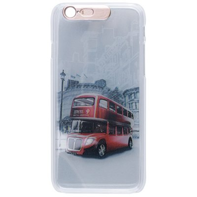 Гаджет   Plastic Material LED Incoming Call Shining Back Cover Case Bus Style for iPhone 6  -  4.7 inch iPhone Cases/Covers