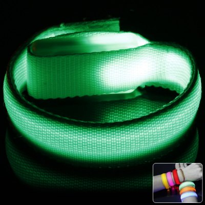 Cool Bracelet LED Flashing Wristband with Velcro Band for Outdoors Sports Rave Party