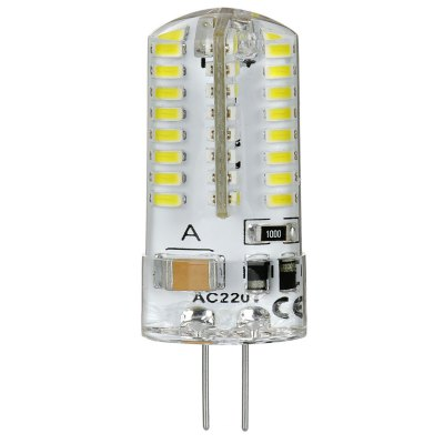 Гаджет   2 x 180LM G4 3W 64 SMD 3014 LEDs Mini Silicone LED Corn Light ( Cool White 220V ) LED Light Bulbs
