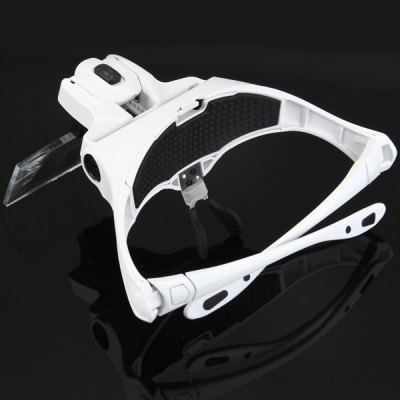 1X / 1.5X / 2.0X / 2.5X / 3.5X Eyeglasses Magnifier with 2 LED Lights Magnifying Glasses