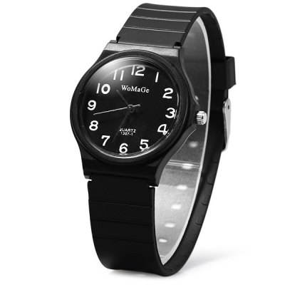 Womage 1307-1 Rubber Band Children Contracted Quartz Watch