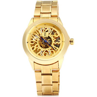 Гаджет   BiaoQi Automatic Mechanical Watch with Hollow - out Design Stainless Steel Body for Men Men