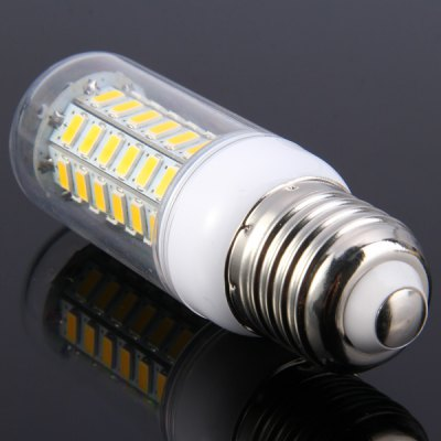 E27 9W 60 SMD 5730 800Lm Dimming LED Corn Light ( Warm White AC 85  -  265V )LED Light Bulbs<br>E27 9W 60 SMD 5730 800Lm Dimming LED Corn Light ( Warm White AC 85  -  265V )<br><br>Base Type: E27<br>Type: Corn Bulbs<br>Output Power: 9W<br>Emitter Type: SMD-5730 LED<br>Total Emitters: 60<br>Actual Lumen(s): 800Lm<br>Wavelength/Color Temperature: 3000-3500K, 6000-6500K<br>Voltage (V): AC85-265<br>Appearance: Transparent cover<br>Features: Dimmable, Energy Saving, Low Power Consumption, Long Life Expectancy<br>Function: Commercial Lighting, Studio and Exhibition Lighting, Home Lighting<br>Available Light Color: Warm White, Cold White<br>Sheathing Material: Plastic<br>Product Weight: 0.035 kg<br>Package Weight: 0.06 kg<br>Product Size (L x W x H): 9.7 x 3 x 3 cm / 3.81 x 1.18 x 1.18 inches<br>Package Size (L x W x H): 11 x 4 x 4 cm / 4.32 x 1.57 x 1.57 inches<br>Package Contents: 1 x LED Corn Bulb