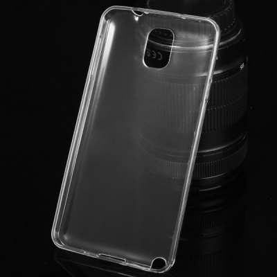 ФОТО TPU Material Ultrathin Transparent Phone Back Cover Case for Samsung Galaxy Note3 N9000