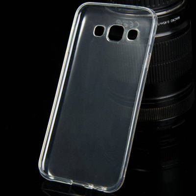 ФОТО TPU Material Ultrathin Transparent Phone Back Cover Case for Samsung Galaxy E5