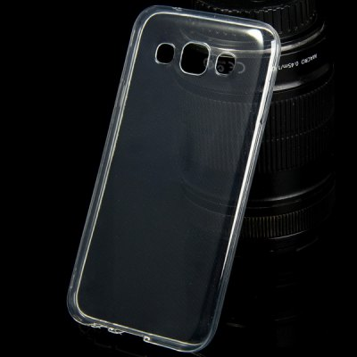 TPU Material Ultrathin Transparent Phone Back Cover Case for Samsung Galaxy E5