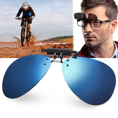 Anti - UV Aviator Polarized Sunglasses Clip Ultra - light Coating Myopia Glasses Clip for Driving Fishing