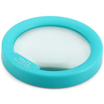 10X Magnifier 72mm Lens Diameter Magnifying Glass with Round FrameSurvival<br>10X Magnifier 72mm Lens Diameter Magnifying Glass with Round Frame<br><br>Type: Magnifier<br>For: Daily Use, Experiment, Home use<br>Material: Plastic, Glasses<br>Color: Blue<br>Product weight   : 0.082 kg<br>Package weight   : 0.145 kg<br>Product size (L x W x H)   : 9.00 x 9.00 x 1.30 cm / 3.54 x 3.54 x 0.51 inches<br>Package size (L x W x H)  : 11.00 x 10.50 x 3.00 cm / 4.32 x 4.13 x 1.18 inches<br>Package contents: 1 x 10X Magnifier