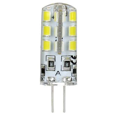 Pair of 120LM G4 3W 24 SMD 3528 Mini Silicone LED Corn Light ( Pure White DC 12V )