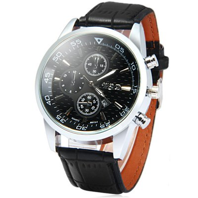 Wyq 89012 - 2 Date Function Male Quartz Watch Leather Strap WristwatchMens Watches<br>Wyq 89012 - 2 Date Function Male Quartz Watch Leather Strap Wristwatch<br><br>Brand: Wyq<br>Watches categories: Male table<br>Watch style: Fashion<br>Available color: Brown, Black, White<br>Movement type: Quartz watch<br>Shape of the dial: Round<br>Display type: Analog<br>Case material: Alloy<br>Band material: Leather<br>Clasp type: Pin buckle<br>Special features: Date, Decorating small sub-dials<br>The dial thickness: 1.3 cm / 0.51 inches<br>The dial diameter: 4.7 cm / 1.85 inches<br>The band width: 2.2 cm / 0.87 inches<br>Product weight: 0.057 kg<br>Package weight: 0.107 kg<br>Product size (L x W x H): 26.5 x 4.7 x 1.3 cm / 10.41 x 1.85 x 0.51 inches<br>Package size (L x W x H): 27.5 x 5.7 x 2.3 cm / 10.81 x 2.24 x 0.90 inches<br>Package Contents: 1 x Wyz 89012-2 Watch