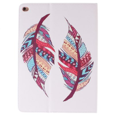 Гаджет   Stand Design Two Feathers Pattern PU and TPU Cover Case with Card Holder for iPad Air 2 iPad Cases/Covers
