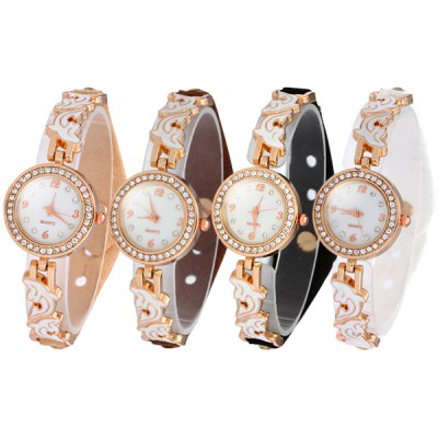 Female Dolphin Quartz Watch Leather + Steel Band Luxury Diamond WristwatchWomens Watches<br>Female Dolphin Quartz Watch Leather + Steel Band Luxury Diamond Wristwatch<br><br>Watches categories: Female table<br>Available color: Brown, Coffee, Black, White<br>Style : Fashion&amp;Casual<br>Movement type: Quartz watch<br>Shape of the dial: Round<br>Display type: Analog<br>Case material: Stainless steel<br>Band material: Steel<br>Clasp type: Buckle<br>The dial thickness: 0.7 cm / 0.28 inches<br>The dial diameter: 2.1 cm / 0.83 inches<br>Product weight: 0.023 kg<br>Package weight: 0.073 kg<br>Product size (L x W x H) : 21.1 x 2.1 x 0.7 cm / 8.29 x 0.83 x 0.28 inches<br>Package size (L x W x H): 22.1 x 3.1 x 1.7 cm / 8.69 x 1.22 x 0.67 inches<br>Package contents: 1 x Dolphine Watch