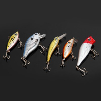 5pcs / Box Yoshikawa Emulational Fish Shaped 5.5cm Hard Fishing Lure Bait with Hooks