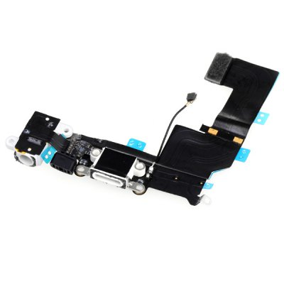 Dock Connector Charging USB Port and Headphone Audio Replacement Flex Cable for iPhone 5S