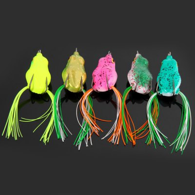 Гаджет   Yoshikawa 5pcs Emulational Frog Shaped 10cm Soft Fishing Lure Bait with Hooks Fishing Baits and Hooks