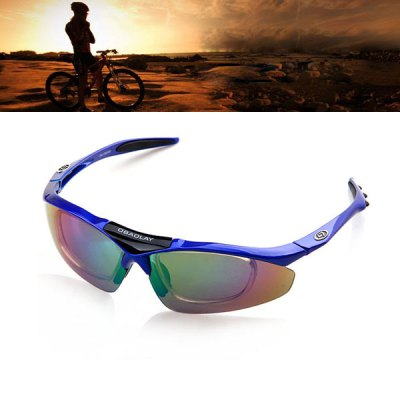 Obaolay Professional Sporty Anti - wind Motorcycle Goggles Sunshine Eyeglasses Eyewear with Replaceable Lens