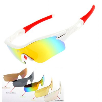 ROCKBROS Super Resilience Outdoor Sports Colorful Polarized Bicycle Sun Glasses for Men / Women
