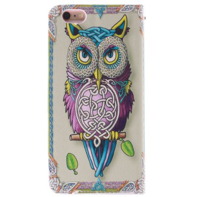 Гаджет   Stand Design Owl Pattern PU and TPU Phone Cover Case with Card Holder for iPhone 6  -  4.7 inch iPhone Cases/Covers