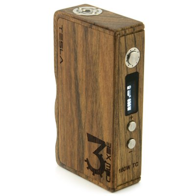 TESLA Wood 160W TC Variable Wattage Mini Box Mod