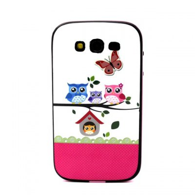 Гаджет   Owl Family Pattern TPU Phone Back Cover Case of Detachable Design for Samsung Galaxy Grand Neo I9060 Samsung Cases/Covers