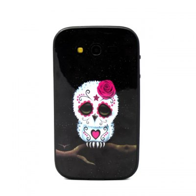 Гаджет   Flower Skull Pattern TPU Phone Back Cover Case of Detachable Design for Samsung Galaxy Grand Neo I9060 Samsung Cases/Covers