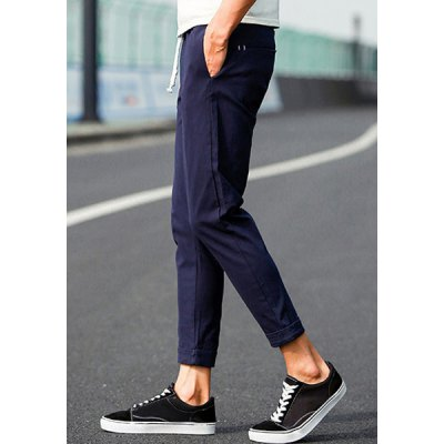 Гаджет   Laconic Slimming Lace-Up Crimping Solid Color Narrow Feet Men