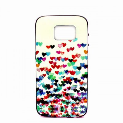 Гаджет   Colourful Heart Pattern TPU Phone Back Cover Case of Detachable Design for Samsung Galaxy S6 G9200 Samsung Cases/Covers