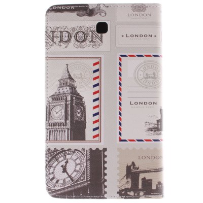 Гаджет   Stand Design Vintage Postcard Pattern PU and TPU Cover Case with Card Holder for Samsung Galaxy Tab 3 P3200 Samsung Cases/Covers
