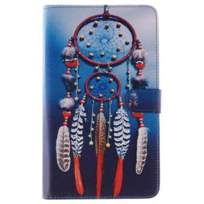 Гаджет   Stand Design Wind Chime Pattern PU and TPU Cover Case with Card Holder for Samsung Galaxy Tab 3 P3200 Samsung Cases/Covers