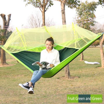 Parachute Fabric Assorted Color Hammock with Mosquito Net