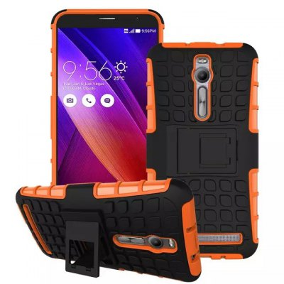 ФОТО Stand Design TPU and PC Material Tire Pattern Protective Back Cover Case for ASUS ZenFone 2 ZE551ML