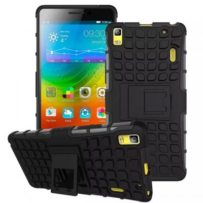 ФОТО Stand Design TPU and PC Material Tire Pattern Protective Back Cover Case for Lenovo K3 Note