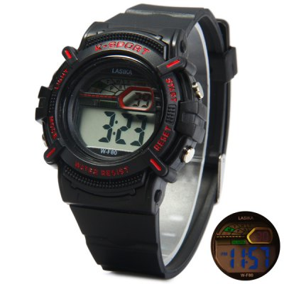 Lasika F80 Water Resistant Sports Wristwatch LED Digital Watch