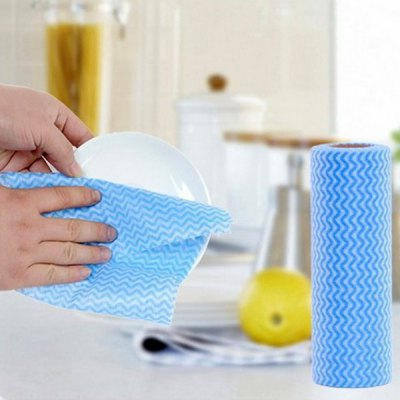 50pcs / Roll Non-Woven Fabric Kitchen Scouring Pad