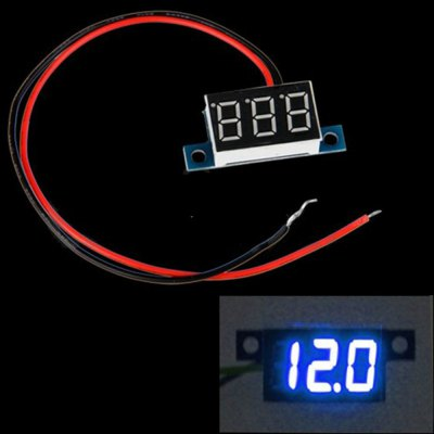 TS - IA57 Mini DC 3.3 - 30V Blue LED Panel Digital Display Voltage Meter Voltmeter with 2 Wires DIY Projects