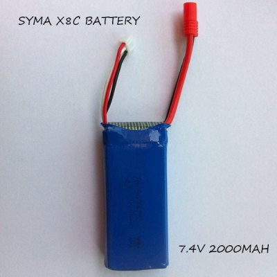 ФОТО SYMA X8C RC Quadcopter Spare Parts 5Pcs 7.4V 2000mAh Batteries + US Plug Charger + Balance Charger
