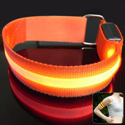 led armband safety reflective flashing light for night cycling walking runnin. Black Bedroom Furniture Sets. Home Design Ideas