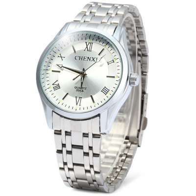 Chenxi 054A Water Resistant Male Japan Quartz Watch with Stainless Steel Band Round Dial