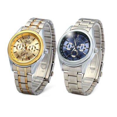 ФОТО Chenxi 018A Male Japan Quartz Watch with Decorative Sub - dials Stainless Steel Band