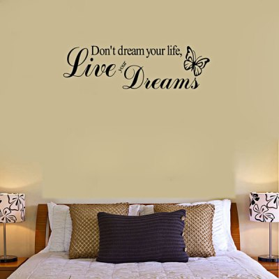 0341 Butterfly Style Wall Decor Live Your Dreams
