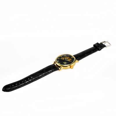 ФОТО Sewor Genuine Leather Band Male Hand Winding Mechanical Watch Hollow - out Wristwatch