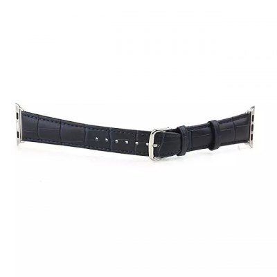 ФОТО Classic Leather Buckle Watch Band Crocodile Grain Strap Stainless Steel Clasp for Apple Watch 38mm
