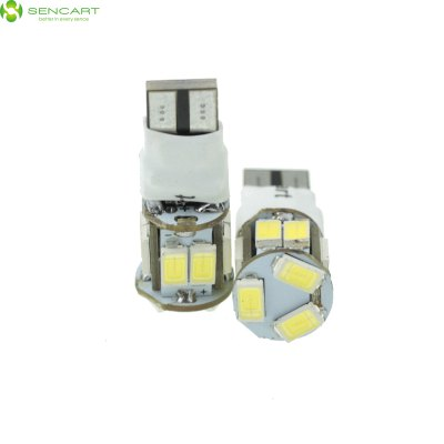 Sencart 2 x T10 149 W5W 5W 11 x SMD 5730 2 Modes Car Bulb ( 6000 - 6500K DC 12 - 16V ) - SENCARTLED Light Bulbs<br>Sencart 2 x T10 149 W5W 5W 11 x SMD 5730 2 Modes Car Bulb ( 6000 - 6500K DC 12 - 16V )<br><br>Brand: Sencart<br>Type: Car Light<br>Car light type: Door lamp, Instrument Light, Strip Light, Reading Light, Side Marker Light, Dome Light, Turn Signal Light, Reversing lamp, Tail Light, Daytime Running Light, Emergency Strobe Flash Light, License Plat<br>Compatible models: T10, 194, W5W, T8, T10, T13, T15, 147, 152, 158, 159, 161, 168, 184, 192, 193, 194, 259, 280, 285, 447, 464, 501, 555, 558, 585, 655, 656, 657, 1250, 1251, 1252, 2450, 2652, 2921, 2825, 12256, 12961,<br>Connector: T10<br>Lumens: 500Lm<br>LED: 11 x SMD-5730 LED<br>Color Temp: 3000-3500K, 6000-6500K<br>Available Light Color: White, Yellow, Warm White, Red, Blue<br>Wattage (W): 5<br>Voltage (V): DC 12-16V<br>Features: Low Power Consumption, Easy to use, Warning Strobe, High Output<br>Sheathing Material: ABS<br>Certificate: CE<br>Product weight: 0.006 kg<br>Package weight: 0.075 kg<br>Product size (L x W x H): 2.9 x 1.2 x 1.2 cm / 1.14 x 0.47 x 0.47 inches<br>Package size (L x W x H): 5 x 4 x 4 cm / 1.97 x 1.57 x 1.57 inches<br>Package Contents: 2 x T10 LED Light