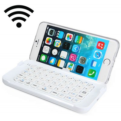 Bluetooth Keyboard with Phone Back Cover Case for iPhone 6 Plus 6S Plus - 5.5 inch