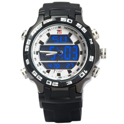 ФОТО T5 3369 Water Resistance Japan Dual Movt LED Outdoors Sports Watch