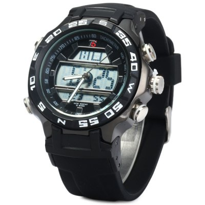 Фотография T5 3369 Water Resistance Japan Dual Movt LED Outdoors Sports Watch