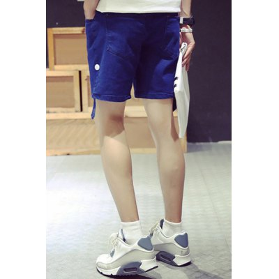 Гаджет   Laconic Slimming Lace-Up Fashion Crimping Bleach Wash Straight Leg Men