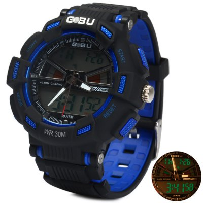 Gobu 1531 Dual Movt LED Sports Military Watch