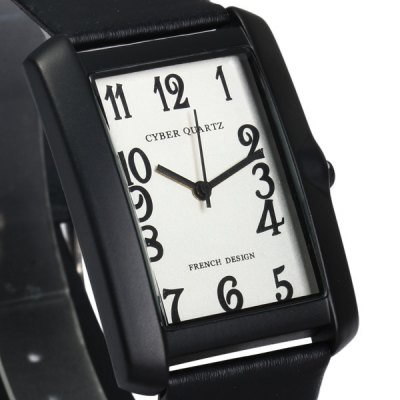 Astina 2354 Leather Band Unisex Quartz Watch with Rectangle Dial